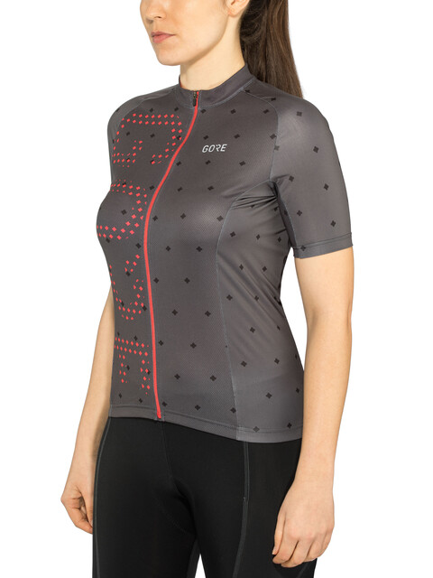 GORE WEAR C3 Brand Jersey Women terra grey/hibiscus pink